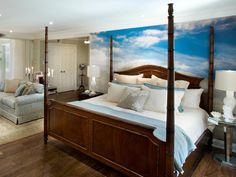 I think I'd add a gauze curtain to the head of the bed and a bamboo ceiling fan for an even more tropical feel.