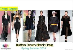 Button Down Black #Dress #Fashion Trend for Spring Summer 2014 #spring2014 #trends