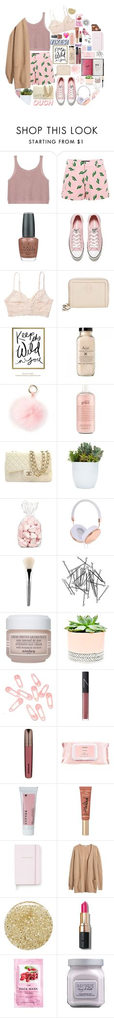 """the liquor on his lips"" by lanadelnotyou ❤ liked on Polyvore featuring moda, American Retro, OPI, Converse, Monki, Tory Burch, RAJ, philosophy, Chanel ve Frends"