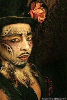 draw evil clown makeup