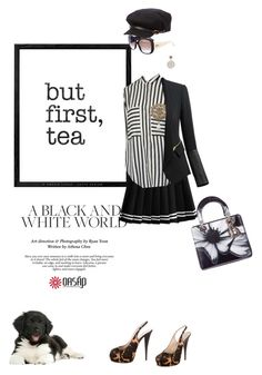 Mostly b&w by pensivepeacock on Polyvore featuring polyvore fashion style Giuseppe Zanotti Christian Dior Chanel John Hardy Burberry WALL clothing