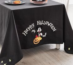 Disney Mickey Mouse Halloween Tablecloth | Pottery Barn Kids Mickey Mouse Halloween, My First Halloween, Baby Halloween Costumes, Disney Halloween, Disney Mickey Mouse, Halloween Themes, Halloween Fun, Halloween Tablecloth, Halloween Plates