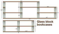 28 best wall divider shelf glass block concrete wood images on rh pinterest com glass block shelving Building Shelves