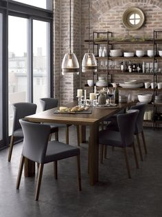 Modern + industrial dining