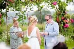 The groom reading the vows he had personally written. Matt and Alice's wedding blessing ceremony at their farm in Axminster, Devon. 27th June 2015. Ceremony designed and conducted by Diana Saxby www.gracetheday.com. Photos kindly supplied by Helen Cawte Photography www.helencawtephotography.com