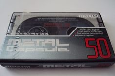 Maxell Metal Capsule 50 Audio Cassette Tape MC