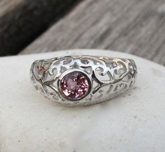 Blue Spinel Rings- Pink Spinel Rings- Red Spinel Rings Spinel Rings- Filigree Rings- Antique Rings- Art Deco Rings- Gemstone Rings-Pink Ring...