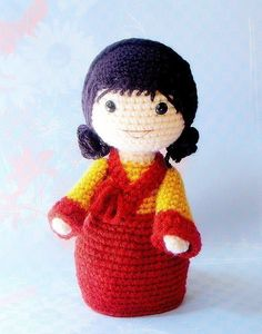 """Mina -  Crochet Amigurumi girl doll pattern / PDF"" #Amigurumi  #crochet"