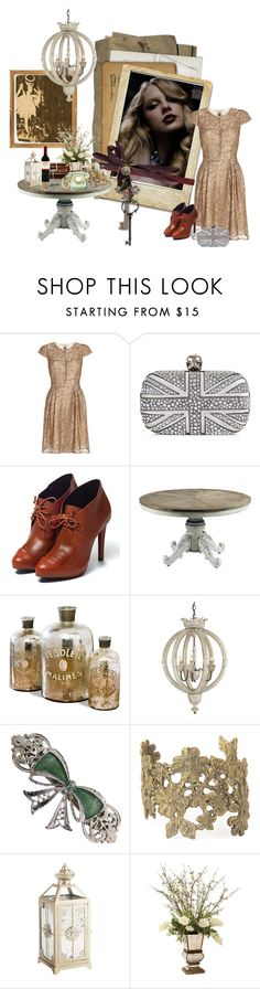 """Vintage In Paris."" by dangerous-daydreams ❤ liked on Polyvore featuring Issa, Alexander McQueen, Rebecca Minkoff, Occa Maison, Dauphin, 1928, Alkemie, Pier 1 Imports, Neiman Marcus and Steuben"