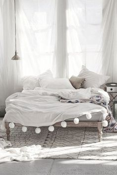 Moroccan Pom Pom Blankets