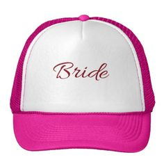 #bridesmaid - #Marsala Burgundy Bride Gear Trucker Hat