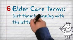 Elder Care Terminology Just C's and D's