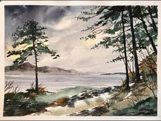 How to paint a loose Irish watercolour landscape, beginners hake watercolor tutorial, Ring of Kerry - YouTube Watercolor Video, Watercolor Water, Watercolor Projects, Watercolour Tutorials, Watercolor Artists, Watercolor Landscape, Landscape Paintings, Watercolor Paintings, Drawing Techniques