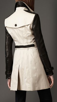 burberry leather sleeve trench coat - because a girl can dream