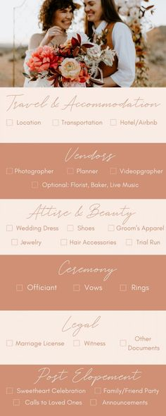 This elopement planning checklist will help you choose your elopement location, hire your wedding vendors, plan your intimate ceremony, get your marriage license, and more! | Image by Anais Possamai Photography Elope Wedding, Wedding Vendors, Wedding Blog, Dream Wedding, Wedding Day, Wedding Dreams, Wedding Things, Wedding Stuff, Weddings