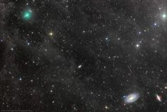 Comet ATLAS and the Mighty Galaxies >> Comet ATLAS was discovered by the NASA funded Asteroid Terrestrial-impact Last Alert System, the last comet discovery reported in Now growing. Galaxy Images, Nasa Images, Linux Mint, Cosmos, Planeta Venus, Explanation Writing, The Great Comet, Astronomy Pictures, Meteor Shower