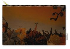 Floral Carry-all Pouch featuring the painting Autumn Feel by Faye Anastasopoulou