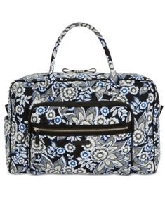 4d1a607d88 Vera Bradley Iconic Weekender Travel Bag - Snow Lotus Silver Vera Bradley  Weekender Bag