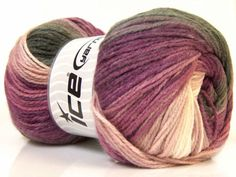 Lot-of-4-x-100gr-Skeins-ICE-MAGIC-LIGHT-Hand-Knitting-Yarn-Black-Maroon-White