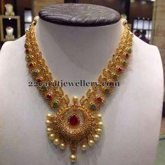 Jewellery Designs: Mango Necklacein New Pattern