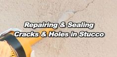 How to easily repair cracks and holes in stucco with video from @quikrete.