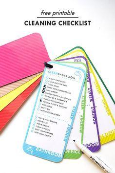 Cleaning Checklist - Genius!                                                                                                                                                      More