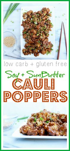 Maybe my favorite cauliflower recipe EVER!! Low carb, gluten free, and tree-nut free SunButter Cauli Poppers!! So Good!!