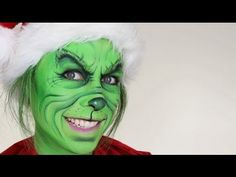 The Grinch Christmas Makeup Tutorial - YouTube