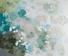 "Shadow of Cotton  Artist: Saliha Staib  ( American)  Oil on linen                4'2""x5'"