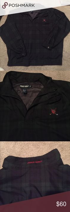 Polo by Ralph Lauren golf windbreaker jacket This is a dope jacket! In the plaid colorway! It's a super clean and practically brand new jacket in excellent condition! Size is XL Polo by Ralph Lauren Jackets & Coats Windbreakers