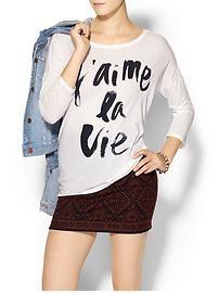 SUNDRY CLOTHING, INC J'aime La Vie Tee