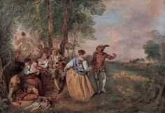 The artwork the herdsmen - Jean-Antoine Watteau we deliver as art print on canvas, poster, plate or finest hand made paper. Jean Antoine Watteau, Paul Verlaine, Baroque Art, Ouvrages D'art, Oil Painting Reproductions, Rococo Painting, Painting People, The Shepherd, Art Database