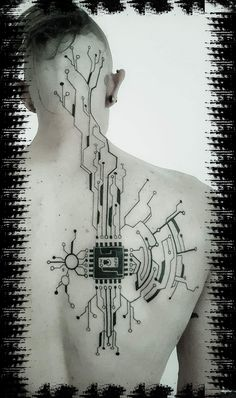 Discover recipes, home ideas, style inspiration and other ideas to try. Cyberpunk Tattoo, Art Cyberpunk, Cyberpunk Clothes, Cyberpunk Aesthetic, Cyberpunk Character, Cyberpunk Fashion, Tattoo Drawings, Body Art Tattoos, Computer Tattoo