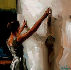 Edward B. Gordon: Hands on Canvas -wow the light and shadow - inspiring