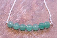 Silver Aventurine Necklace