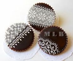 decorated lace cookies - Buscar con Google