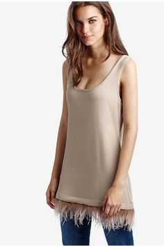 Viscose Vest Top with Feather Panel - Intimissimi