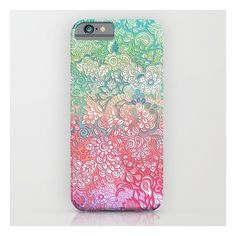 Soft Pastel Rainbow Doodle iPhone 6s Case (655 MXN) ❤ liked on Polyvore featuring accessories, tech accessories, phone cases and iphone & ipod cases