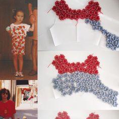 Development of our S/S 2016 hand crochet flowers top Crochet Flower Patterns, Crochet Motif, Hand Crochet, Crochet Flowers, Knit Crochet, Knitwear Fashion, Crochet Fashion, Crochet Clothes, Diy Clothes