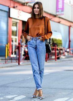 джинсы mom4