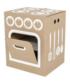 Love this Little Cardboard Kitchen by flatout frankie on #zulily! #zulilyfinds