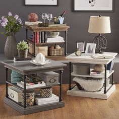 SIGNAL HILLS Barnstone Cornice Accent Storage Side Table | Overstock.com Shopping - The Best Deals on Coffee, Sofa & End Tables