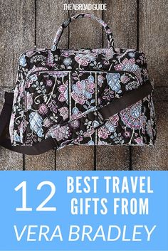 These 12 gifts are great for college travelers that you need gift ideas for. Click through to this Vera Bradley gift guide for pretty carry-on bags, travel organizers, passport protectors and more, all in gorgeous Vera Bradley print. Work Abroad, Travel Organization, Holiday Wishes, Travel Themes, Carry On Bag, Travel Gifts, Organizers, Stocking Stuffers, Passport