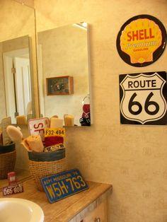 boys bathroom ideas | sábado 28 de agosto de 2010 & Route 66 bathroom decor | Need. | Pinterest | Route 66 Route 66 ...
