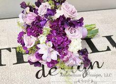 lavender and dark purple wedding flowers