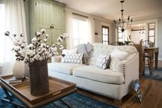 The Carriage House | Season 3 | Fixer Upper | Magnolia Market | Living Room | Chip & Joanna Gaines | Waco, TX