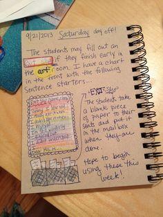 An Art Teacher's Journal. Exit slips in the art classroom.: