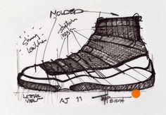 Tinker Hatfield's Original Air Jordan 11 Sketches