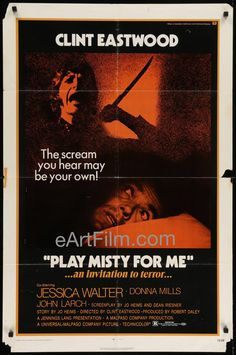 Play Misty For Me 1971 27x41 U.S One Sheet-Clint Eastwood