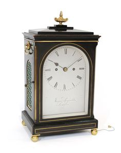 Fusee striking ebonised bracket clock, James Reynolds, London